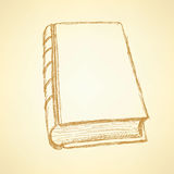 Sketch cute closed book Royalty Free Stock Photo