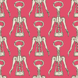 Sketch cute corkscrew in vintage style Stock Photo