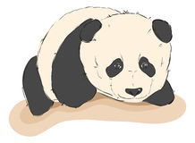Sketch of cute panda Royalty Free Stock Images