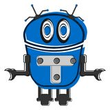 Sketch of a cute robot Royalty Free Stock Images
