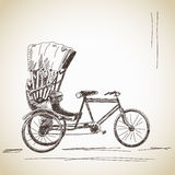 Sketch of cycle rickshaw Stock Photos