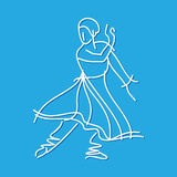 Sketch of dancing ballerina,illustration Royalty Free Stock Images