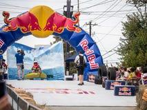 Sketch del Soapbox de la balsa de Red Bull Foto de archivo