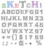 Sketch design alphabet. Vector Royalty Free Stock Image
