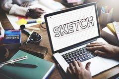 Sketch Design Designer Creative Idea Concept Stock Image