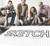 Sketch Design Designer Creative Idea Concept Stock Photo