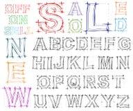 Sketch design hand drawn alphabet. Vector Royalty Free Stock Photo