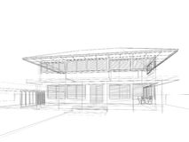 Sketch design of house Royalty Free Stock Photography
