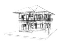 Sketch design of house Stock Image