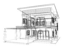 Sketch design of house Royalty Free Stock Photos