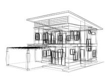Sketch design of house Royalty Free Stock Images