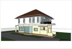 Sketch design of house,vector Royalty Free Stock Image