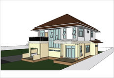 Sketch design of house,vector Royalty Free Stock Images