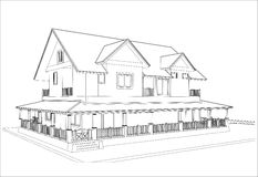 Sketch design of house,vector Stock Photo