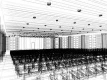 Sketch design of interior auditorium Stock Images