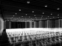Sketch design of interior auditorium. 3d  render Stock Image