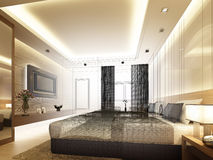 Sketch design of interior bedroom Royalty Free Stock Image