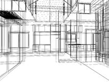 Sketch design of interior Stock Image