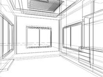 Sketch design of interior Royalty Free Stock Images