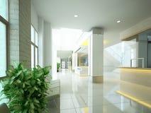 Sketch design of interior hall, 3d. Rendering Royalty Free Illustration