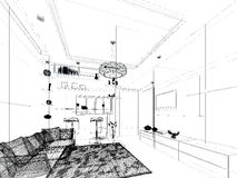 Sketch design of interior living Stock Image