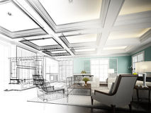 Sketch design of interior living Stock Photography