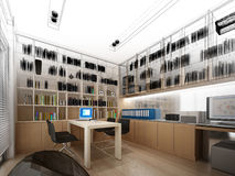 sketch design of study room  Stock Images