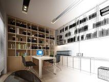 Sketch design of study room Stock Photo