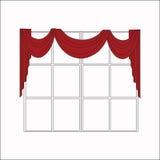 Sketch design window curtains. Interior decoration Stock Photography