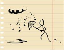 sketch deszczowa pogoda royalty ilustracja