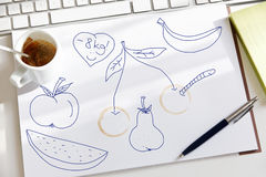 Sketch about diet goals Stock Images