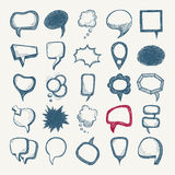 25 sketch different speech bubble collection Stock Image