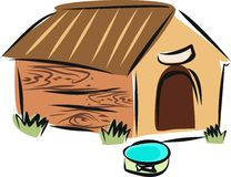 Sketch of doghouse Royalty Free Stock Image
