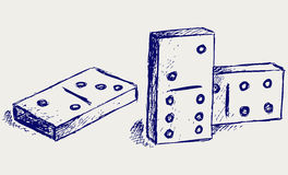 Sketch dominoes Stock Photography