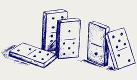 Sketch dominoes Royalty Free Stock Photography