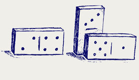 Sketch dominoes Royalty Free Stock Images