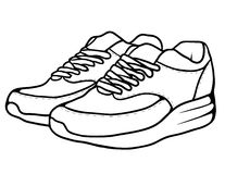 Sketch doodle sneakers Stock Photos