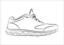 Sketch doodle sneakers for your creativity Royalty Free Stock Photography