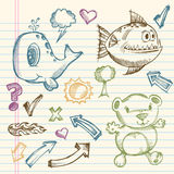 Sketch Doodle Vector Illustration Set Stock Images