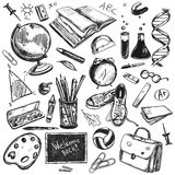 Sketch Doodles Back To School Background Royalty Free Stock Photography