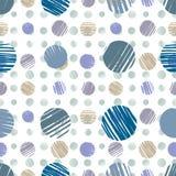 Sketch dots seamless pattern. Stock Photography
