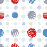 Sketch dots seamless pattern. Stock Photos