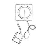 Sketch draw blood plessure apparatus cartoon Royalty Free Stock Photos
