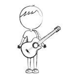 Sketch draw body man cartoon Stock Photo