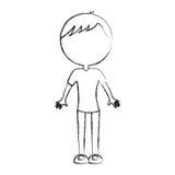 Sketch draw body man cartoon Royalty Free Stock Photography