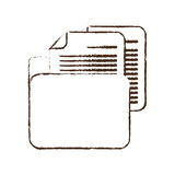 Sketch draw folder file document report paper. Illustration eps 10 Royalty Free Stock Images