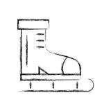 Sketch draw ice skate cartoon. Sketch draw cute ice skate cartoon vector graphic design Stock Photos