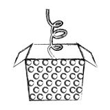 Sketch draw jack in the box Royalty Free Stock Photography