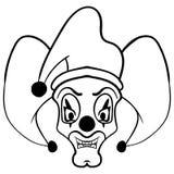 Sketch draw jester face cartoon. Tattoo sketch joker head vector illustration