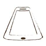 Sketch draw smartphone device technology gadget. Illustration eps 10 vector illustration